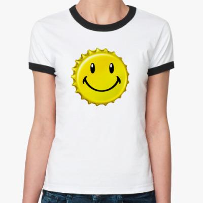 Женская футболка Ringer-T Смайл