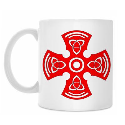 Кружка Крест тамплиера с девизом