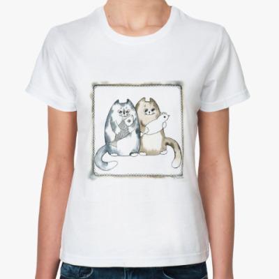 Классическая футболка 'Благополучные коты'