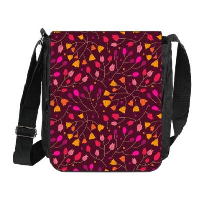 Сумка на плечо (мини-планшет) Цветочный орнамент