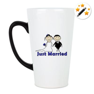 Кружка-хамелеон Just married