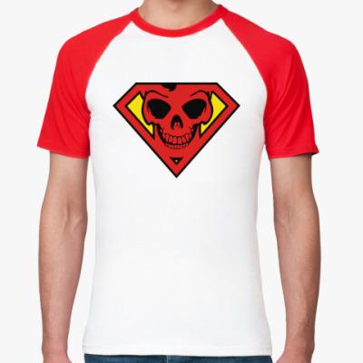 Футболка реглан Skull Superman