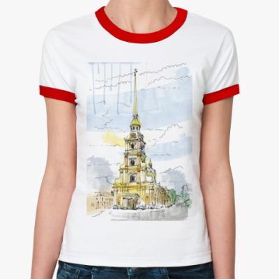 Женская футболка Ringer-T Петропавловская крепость