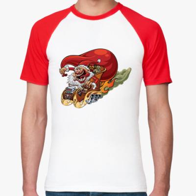 Футболка реглан Crazy Santa
