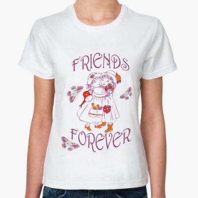 Классическая футболка Friends forever