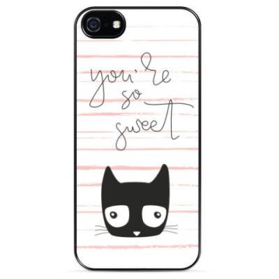 Чехол для iPhone Чёрный кот, которому везёт
