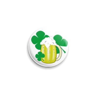 Значок 25мм  'Ирландское пиво'