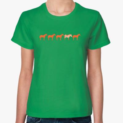 Женская футболка Другая лошадка