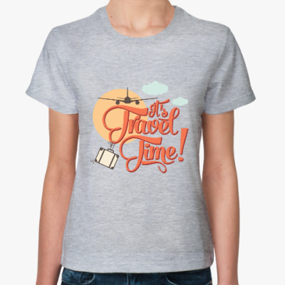 Женская футболка It's travel time