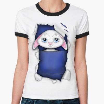 Женская футболка Ringer-T Заяц
