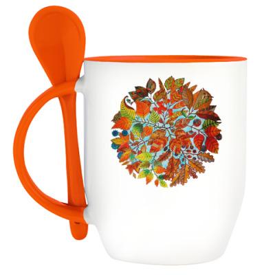 Кружка с ложкой Любителю чая