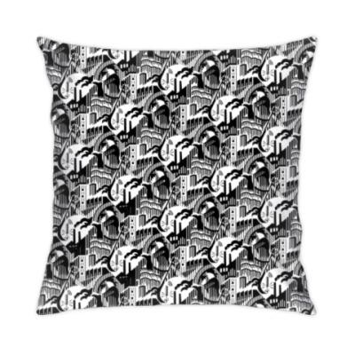 Подушка «Цех», агитационный текстиль