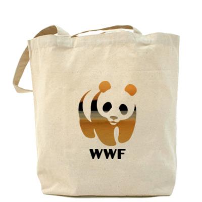 Сумка WWF. Панда. Закат в пустыне