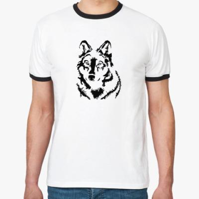 Футболка Ringer-T Белый волк