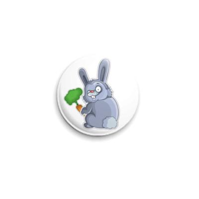 Значок 25мм   Кролик