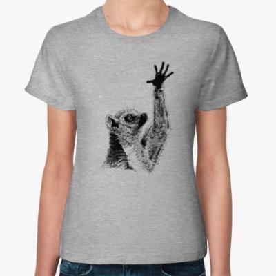 Женская футболка Лемур