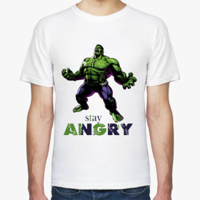 Футболка HULK stay angry MARVEL