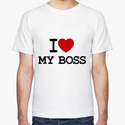 Футболка I Love My Boss