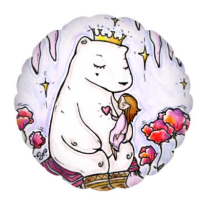 Подушка Полярный медведь и девочка