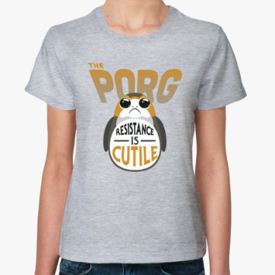 Женская футболка Порги starwars