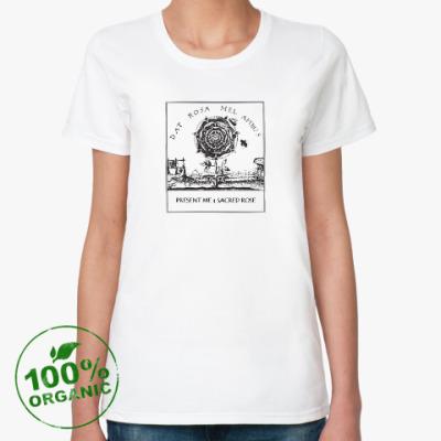 Женская футболка из органик-хлопка Подари мне Священную Розу