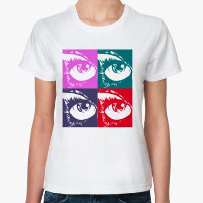 Классическая футболка Глаз поп арт
