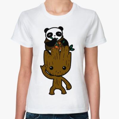Классическая футболка Грут и Панда (Стражи Галактики)