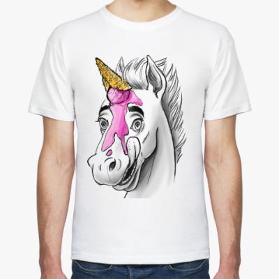 Футболка Лошадь с мороженым или веселый единорог