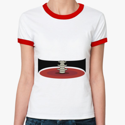 Женская футболка Ringer-T 'Талия'