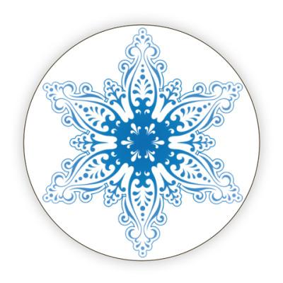 Костер (подставка под кружку) Снежиночка