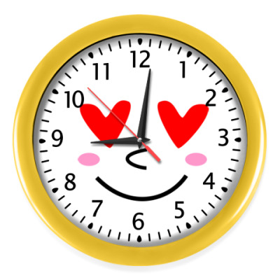 Настенные часы Я тебя люблю