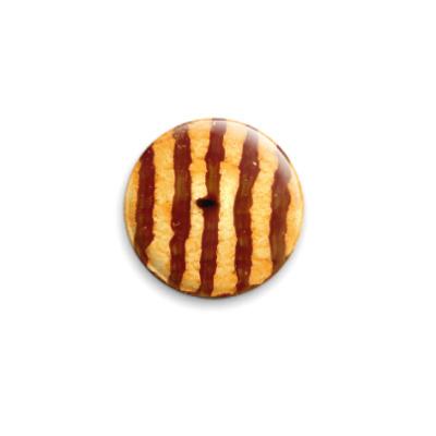Значок 25мм  Шоколадная печенька