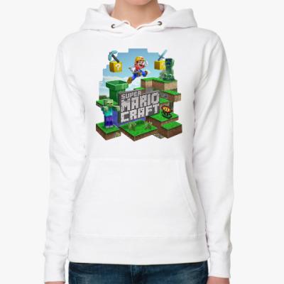 Женская толстовка худи Super Mario Craft