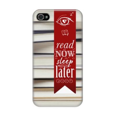 Чехол для iPhone 4/4s read now sleep later