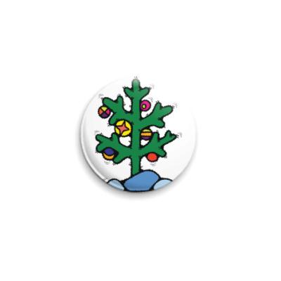 Значок 25мм Нестандартная елочка