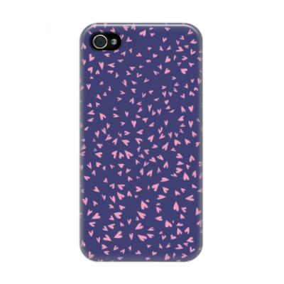 Чехол для iPhone 4/4s Мелкие сердечки