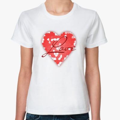 Классическая футболка Сердце из кусочков