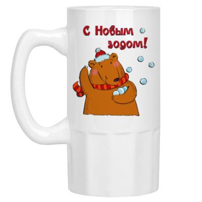 Пивная кружка Медведь