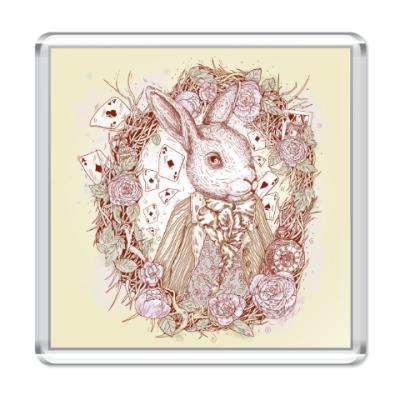 Магнит Белый Кролик