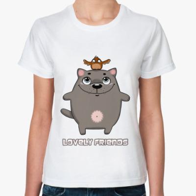 Классическая футболка Lovely friends