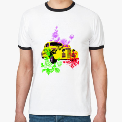 Футболка Ringer-T Retro car