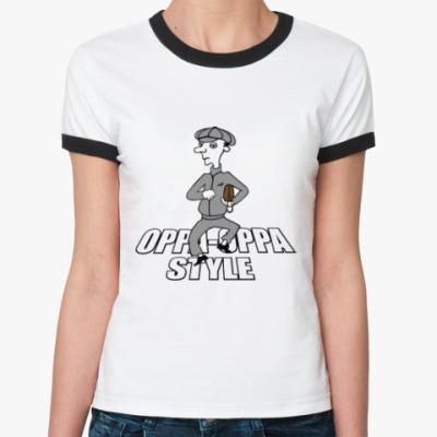 Женская футболка Ringer-T Oppa oppa
