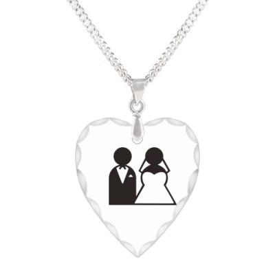 Кулон 'сердце' Just Married