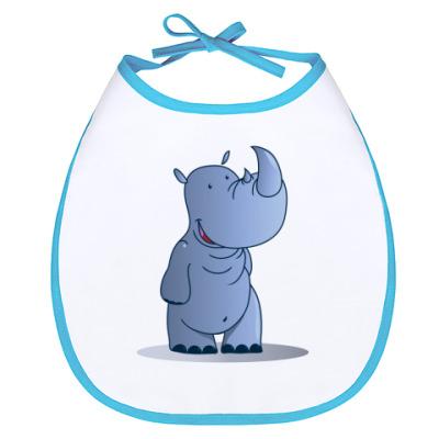 Слюнявчик Милый носорог