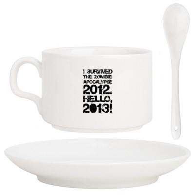 Кофейный набор I survived 2012. Hello, 2013!