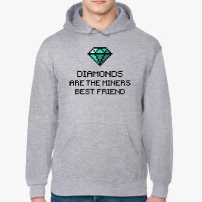 Толстовка худи Minecraft - diamonds