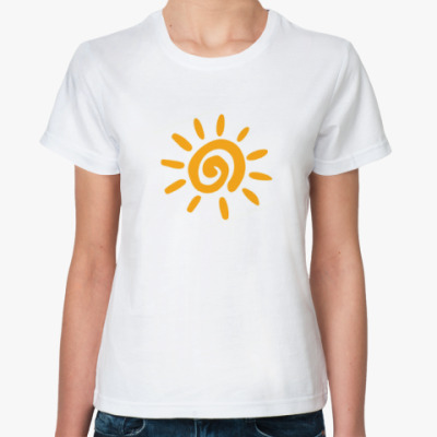Классическая футболка Солнечная надпись