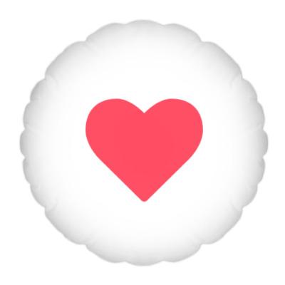 Подушка Лайк сердечко