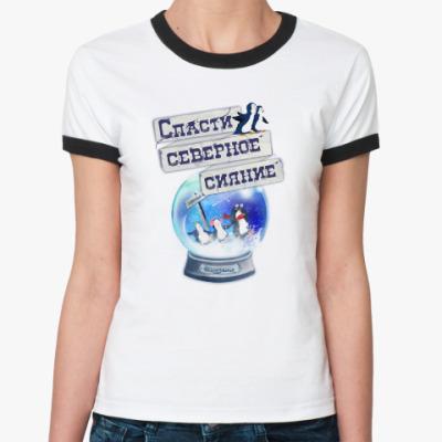 Женская футболка Ringer-T Елка на воде