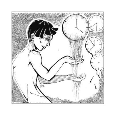 Наклейка (стикер) Время
